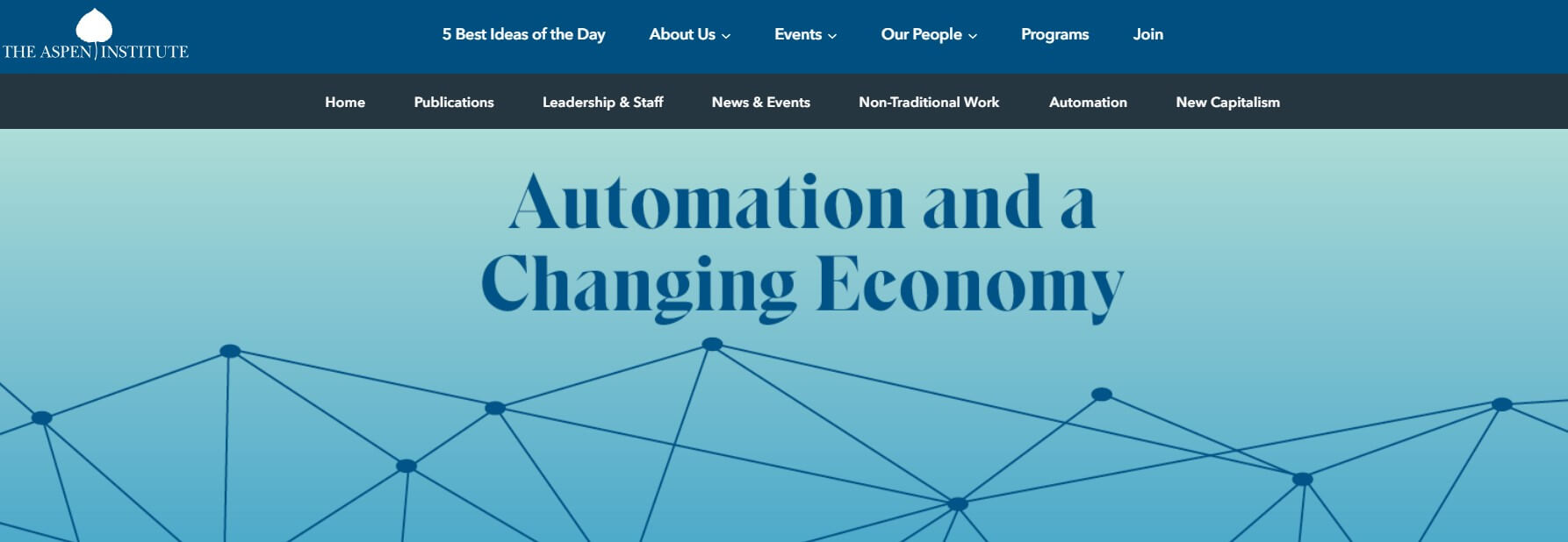 The Aspen Institute is worried about automation