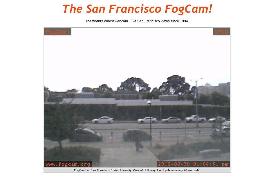 FogCam is a time capsule from the cusp of the internet revolution  FogCam