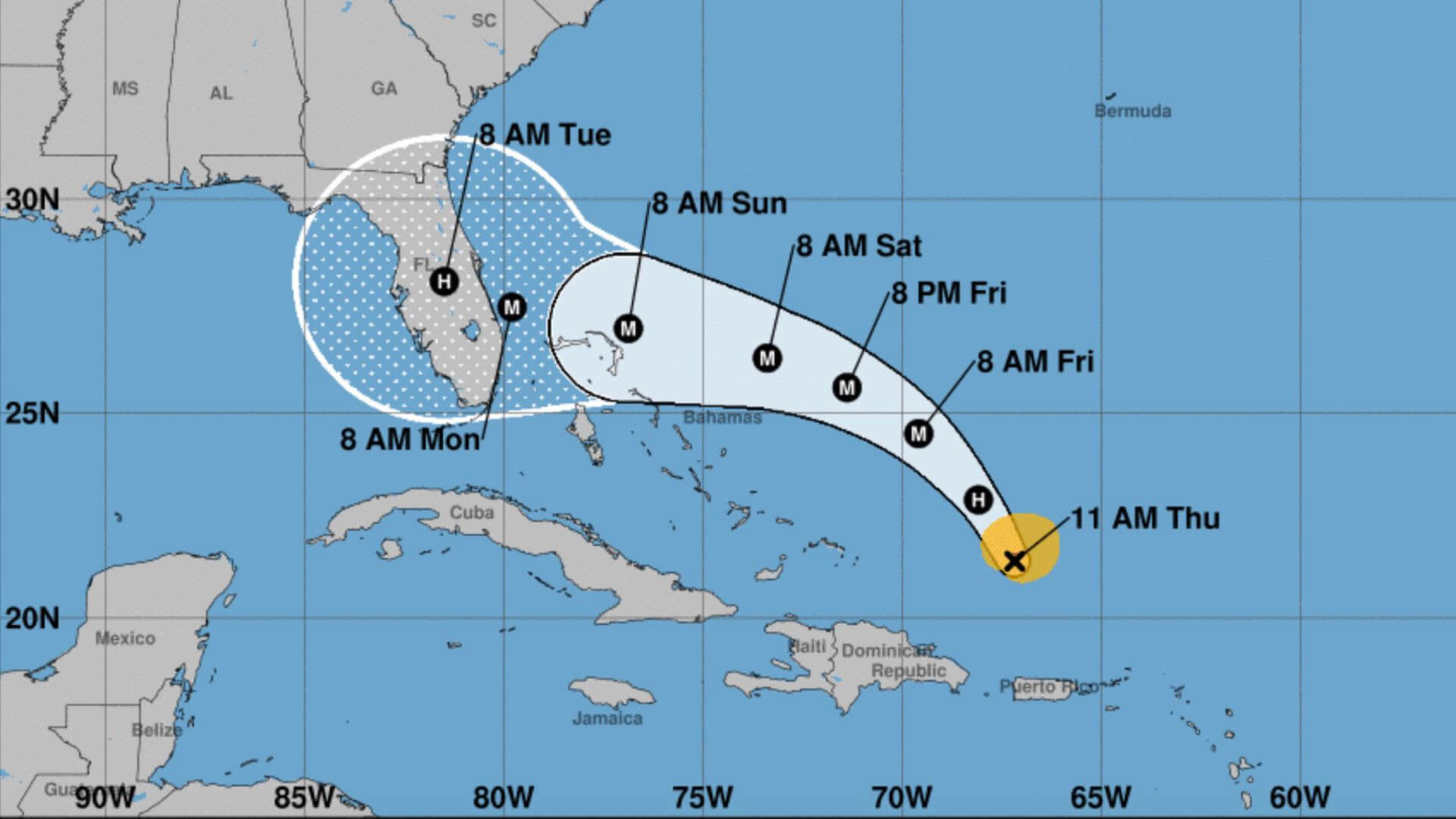 Dorian really couldn't have picked a worse time  National Hurricane Center