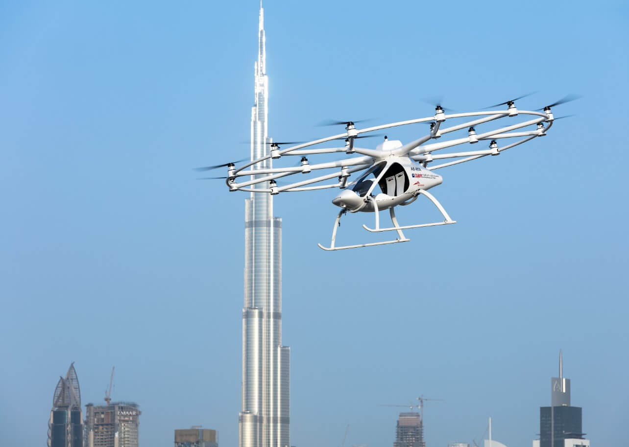 The German air taxi startup is targeting the glitzy city-state market Volocopter