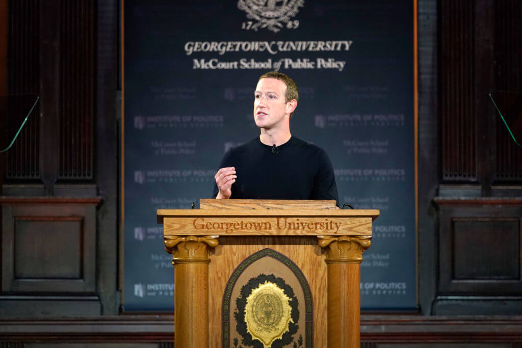 Zuckerberg's college side project is under fire for its political advertising policies Riccardo Savi/Getty Images for Facebook