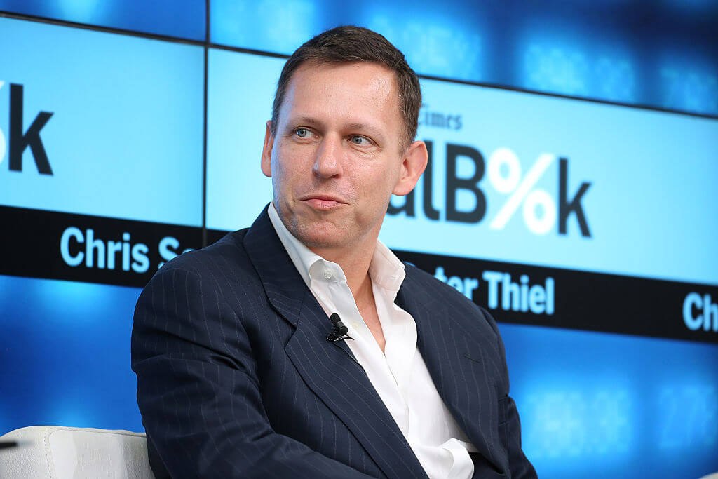 Thiel's hot for the latest VC trend  Neilson Barnard/Getty Images for New York Times