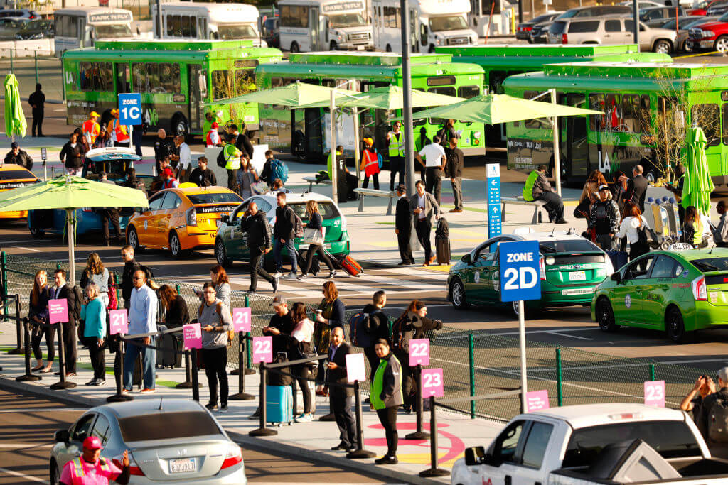 Sunday evening, wait times stretched above an hour Al Seib/Los Angeles Times via Getty Images