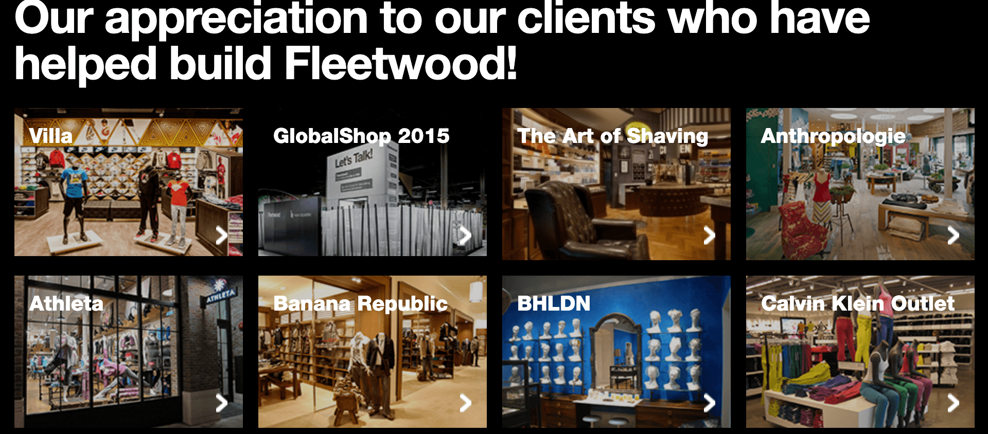 When department stores go down, suppliers go with them. Fleetwood Industries