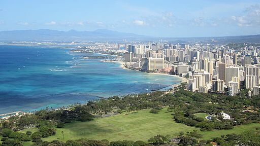 The state is especially sensitive to the effects of climate change Hakilon, Blick auf Honolulu, CC BY 3.0