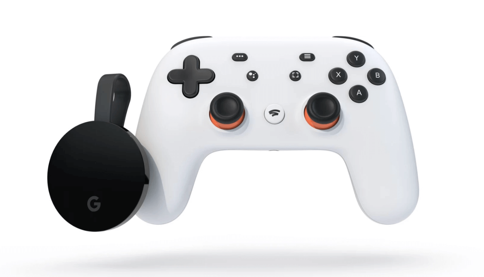 A photo of Google's Stadia gaming controller