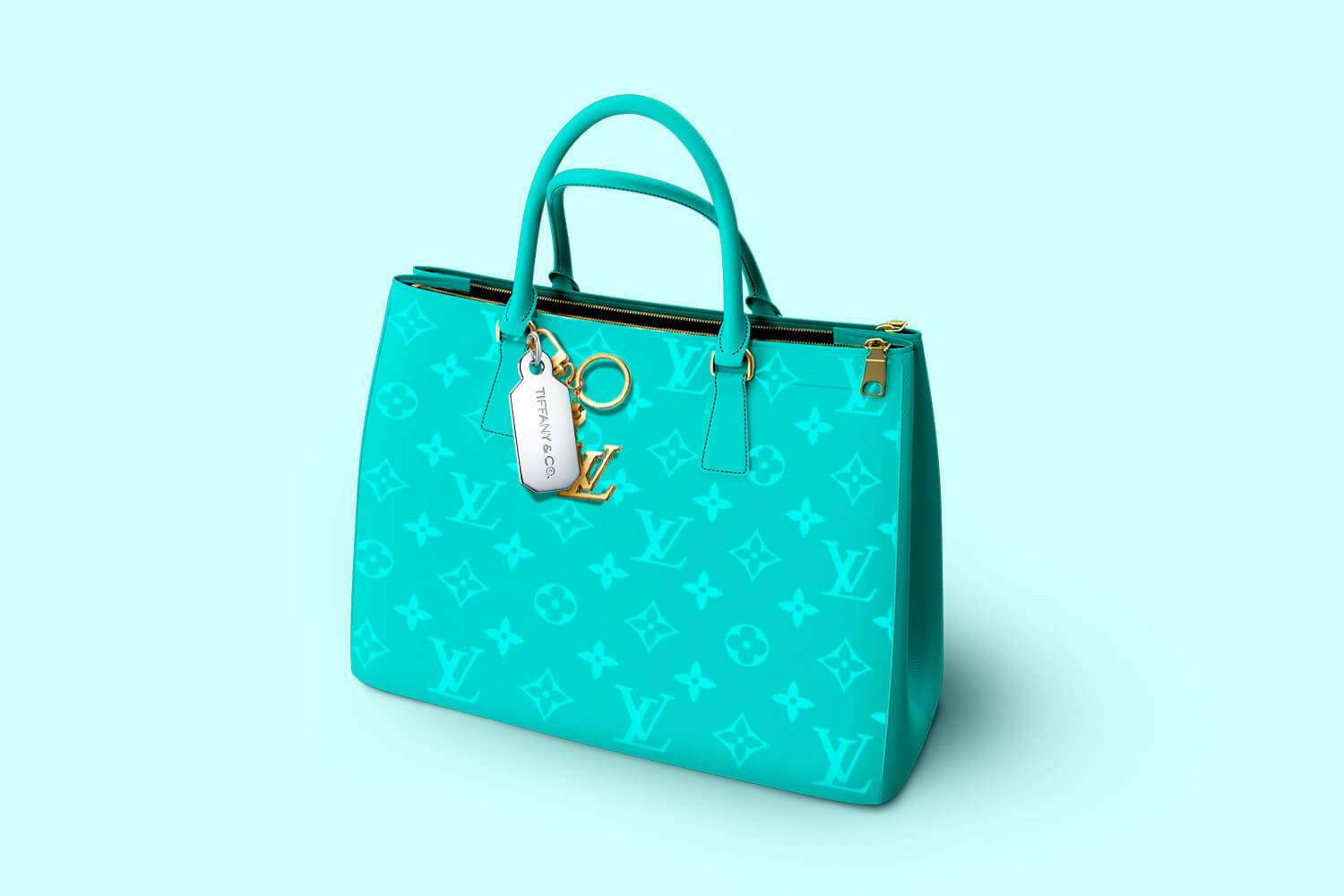 Louis Vuitton bag in Tiffany coloring