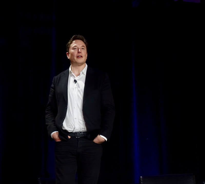 """Musk's unpredictable behavior has landed him in trouble with investors, regulators, and window repairmen """"Elon Musk Presenting Tesla's Fully Auton""""(CC BY 2.0)byjurvetson"""