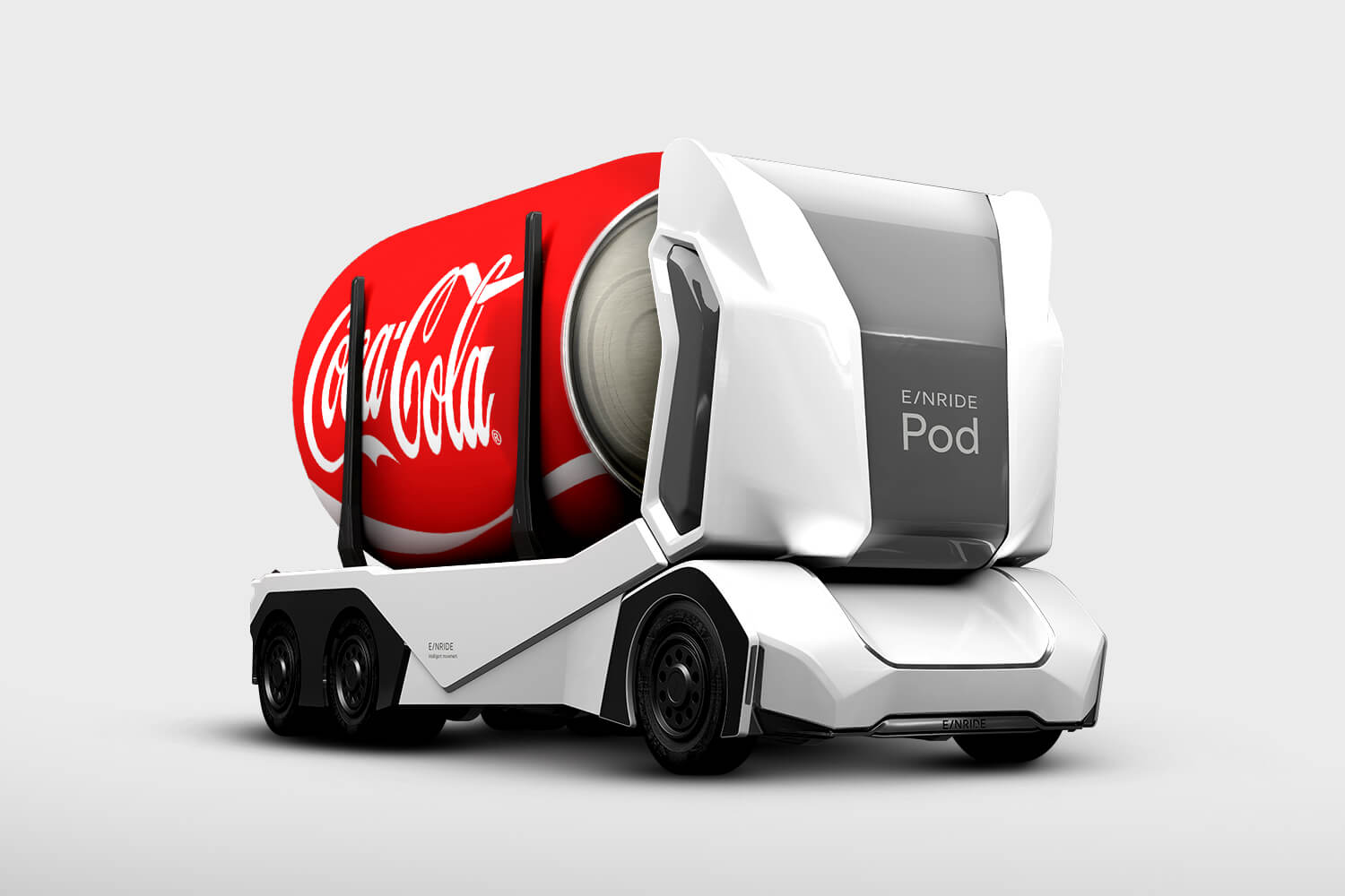 einride T-Pod carrying coca-cola