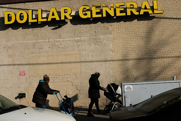 Dollar stores don't see the problem.  Spencer Platt/Getty Images