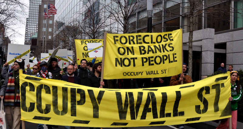 Occupy Bank of America March 15, 2012, Occupy Wall Street targets BofA with a rally and march.