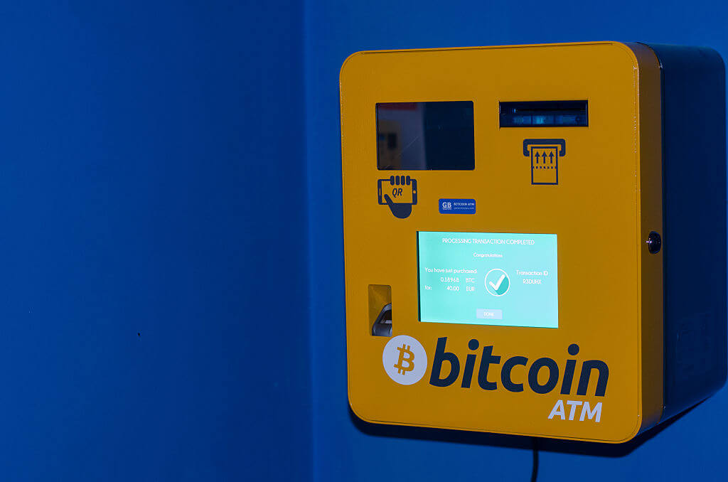 "A bitcoin ""ATM"" in Ghent, Belgium c. 2015."