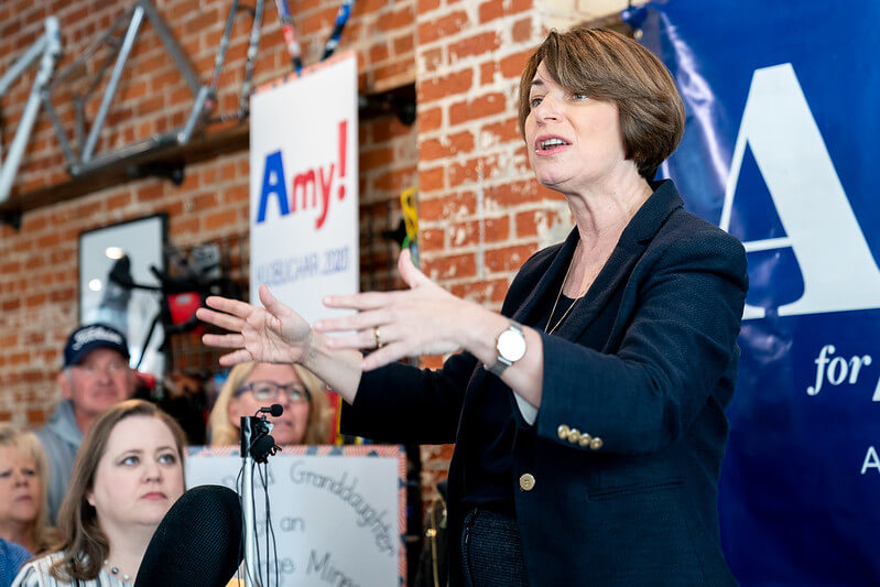 "Long distance relationships are always hard  ""Senator Amy Klobuchar speaking at Shift"" (CC BY-SA 2.0) by Lorie Shaull"