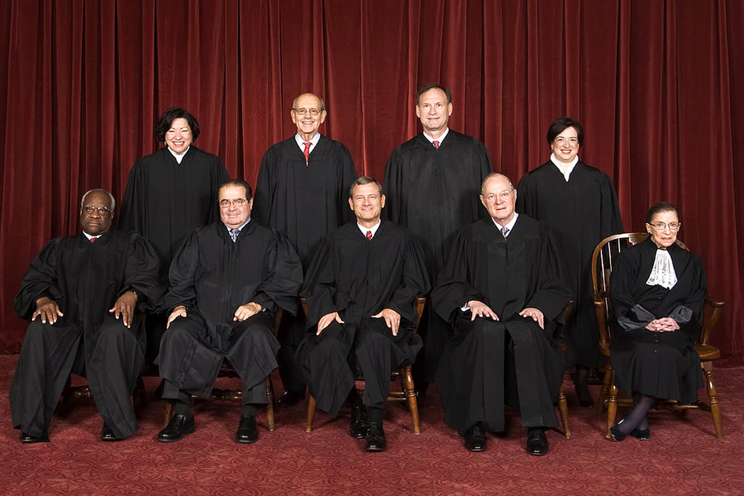 The Supreme Court justices as of 2010