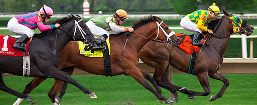 Hooves are pounding across Iowa  Paul Kehrer, Racing at Arlington Park, CC BY 2.0