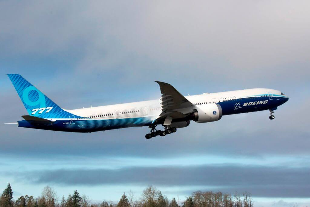 Can Boeing's new jet also lift the company's fortunes?  JASON REDMOND/AFP via Getty Images