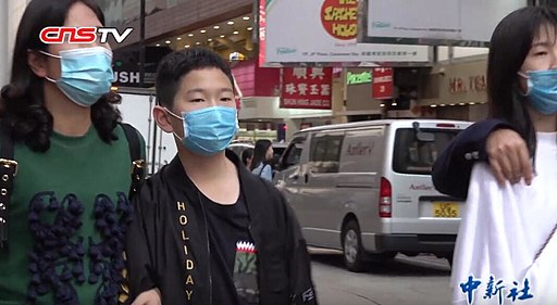 Over 300 people have died from the virus  China News Service/中国新闻网,People wearing masks in Hong Kong for Wuhan coronavirus outbreak,CC BY 3.0