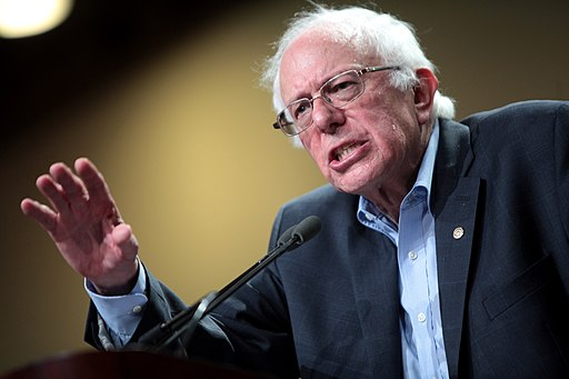 FiveThirtyEight's projections put Sanders' chances of the nomination at almost 50%  Gage Skidmore from Peoria, AZ, United States of America, Bernie Sanders (19197596204), CC BY-SA 2.0